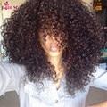 8A Brazilian Virgin Hair With Closure 3 Pcs Kinky Curly Virgin Hair With Closure Curly Weave Human Hair With Closure Deep Curly