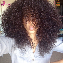 Kinky deep pcs weave curly closure human virgin brazilian with hair