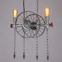 LED Ретро водопровод лампа Эдисона подвесные светильники столовая Винтаж огни Стиль Лофт Промышленное освещение Lampen