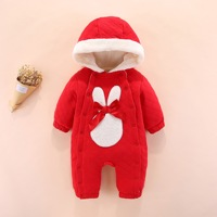 Baby Winter Thickening RED WARM Rompers Baby Clothes Newborn Baby Romper Winter Outfit Baby Girls Clothes