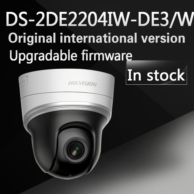 Free shipping English version DS-2DE2204IW-DE3/W 2MP mini WIFI PTZ CCTV camera 2.8-12mm with 30m IR, 4X optical zoom free shipping english version ds 2de4a320iw de 3mp network mini ptz cctv camera 4 7 94mm with 50m ir 20x optical zoom