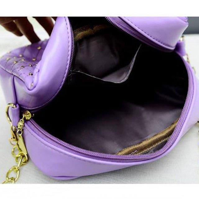 2017 Rivet Chain Shoulder Bag High Quality PU Leather Crossbody N0310