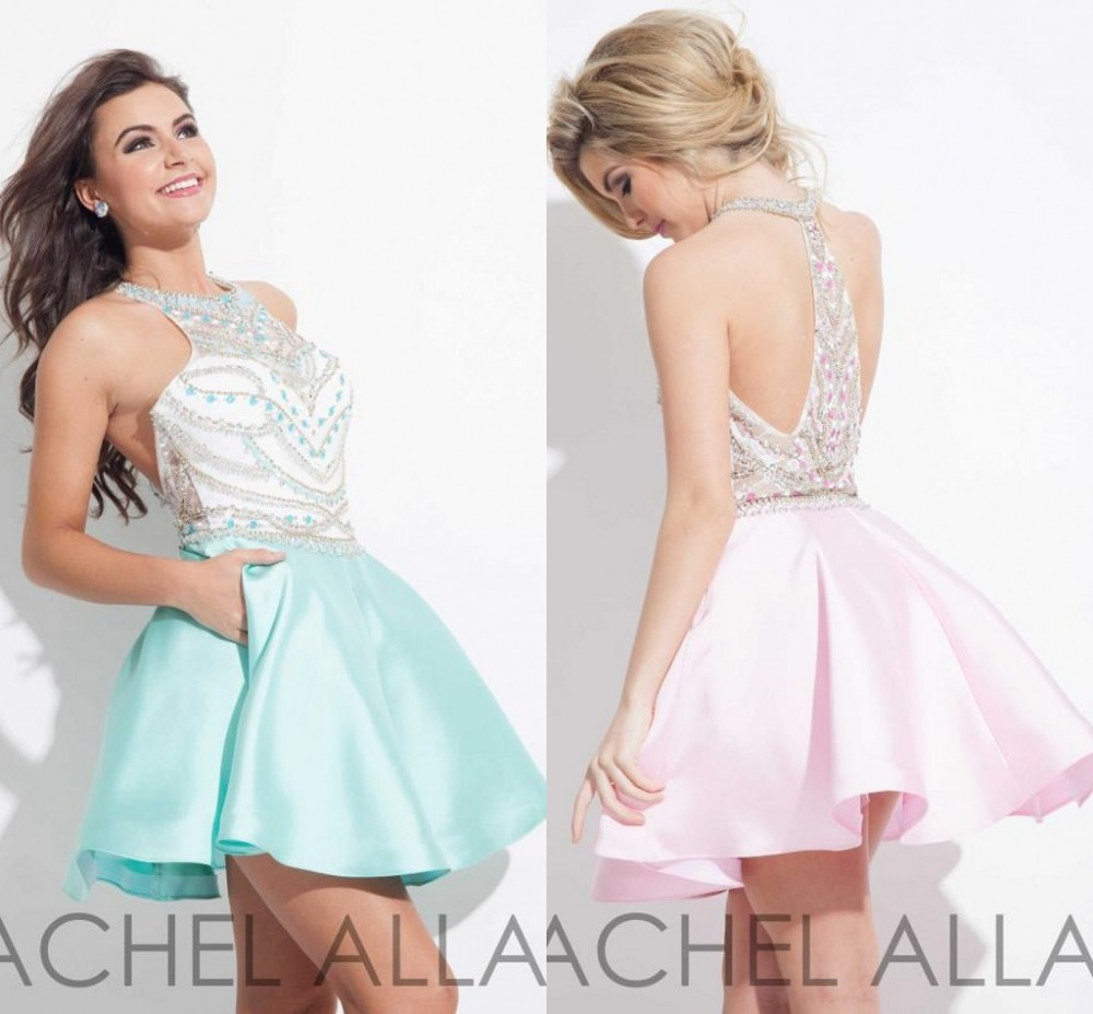 White College Sparkly 2015 Designer Pink Girls Graduation Dresses College Sparkly Beadedshort Junior Homecoming Dress Sexy Backless Prom Homecoming Dressesfrom 2015 Designer Pink Girls Graduation Dres