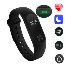 Original xiaomi mi banda 2 miband2 muñequera xiaomi miband pulsera rastreador de fitness monitor de ritmo cardíaco del pulso inteligente pulseras 2