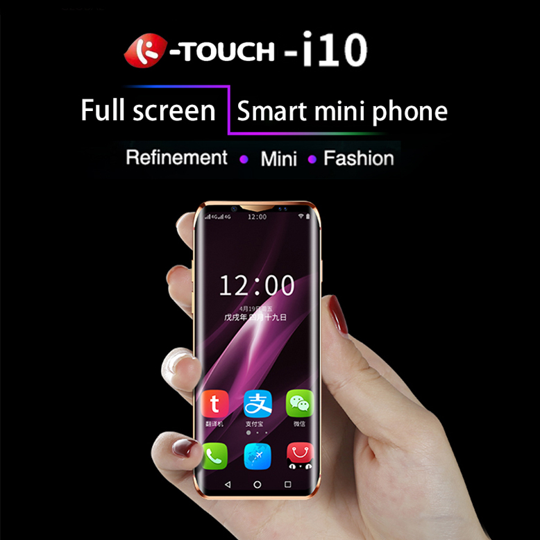 Anica K-TOUCH 10 2G+16G/3G+32G/3G+64G Smallest Mini Dual 4G Ultra Thin 3.5 Screen Face ID Dual SIM Dual Standby Android 8.1