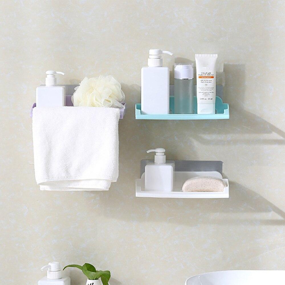 ISHOWTIENDA New 1pc Bathroom Shower Shelf Storage Cup Holder Shelf ...