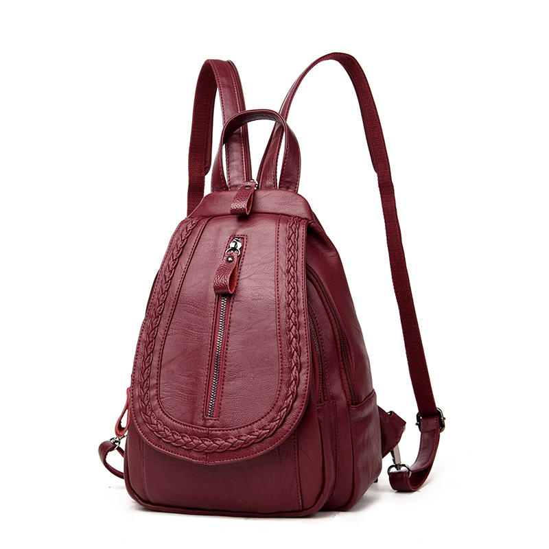 Fashion Women Backpacks Women sheepskin Leather Backpacks Female school Backpack for Teenagers Girls waterproof Travel Backpack