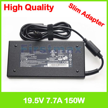 Slim laptop charger 19.5V 7.7A 19V 7.9A ac power adapter for MSI GE62 MS-16J1 MS-16J4 MS-16J5 GE63 7RD GE72VR 7RF GS73 7RE