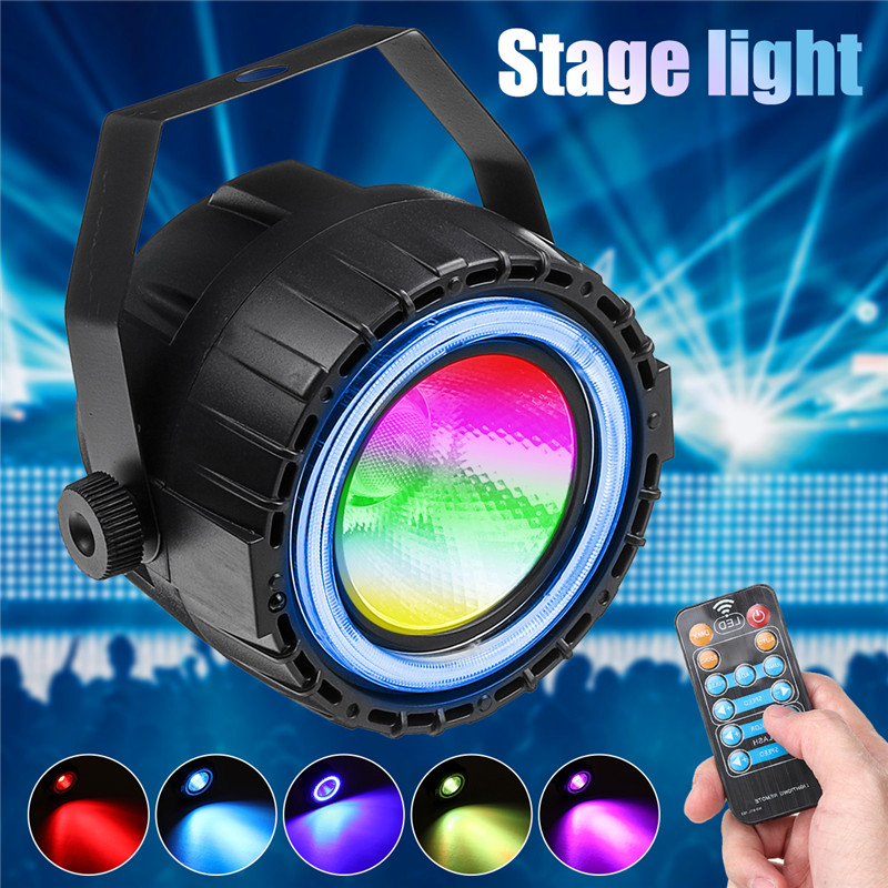 LED Stage lights with 3 in 1 RGB+Blue Ring Lights Colors Auto,Sound,Dmx512+Remote control Powerful Par Lights for live show, pub