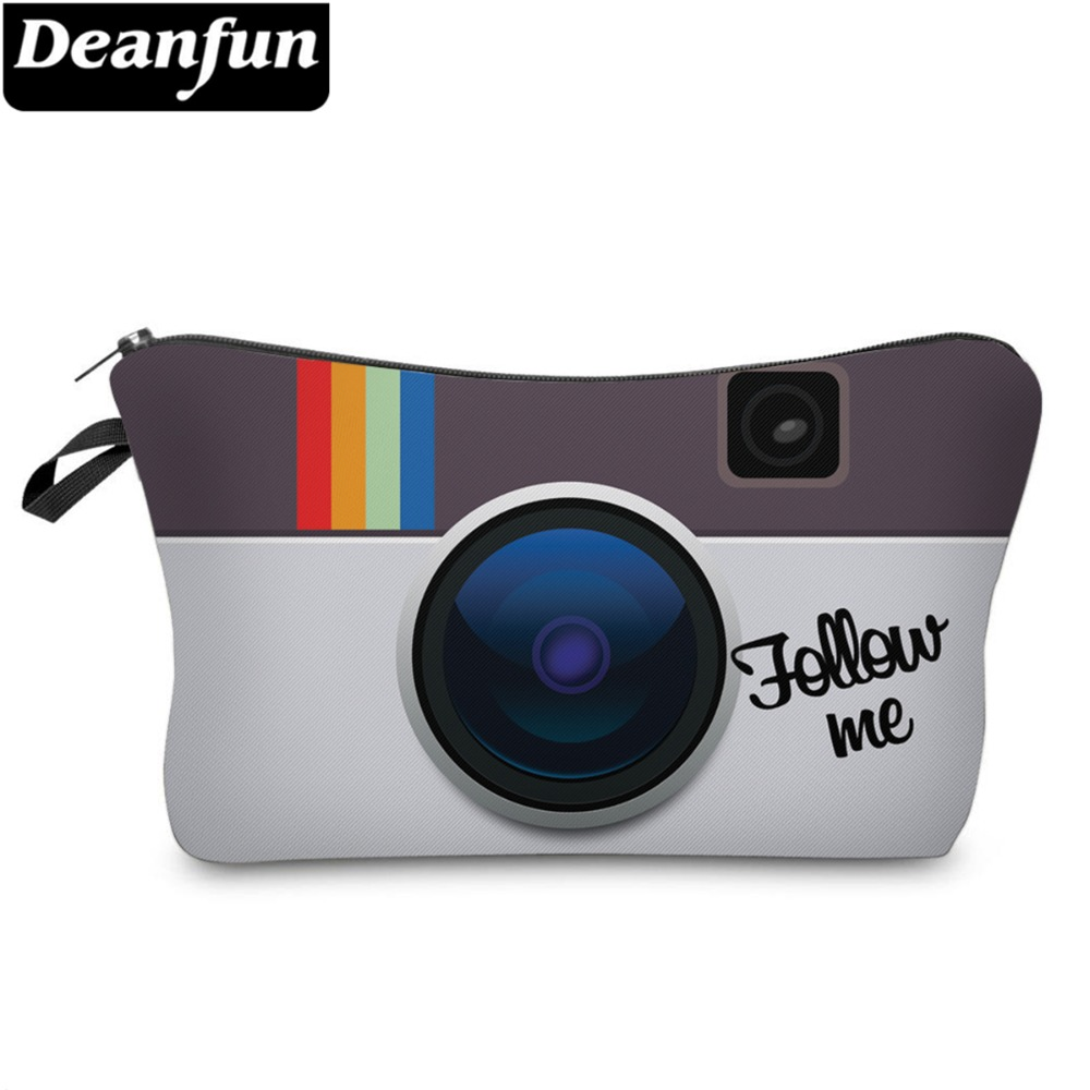 Deanfun Women Cosmetic Bags 3D Printed Camera Pattern Necessaries For Travel Makeup Storage 51048
