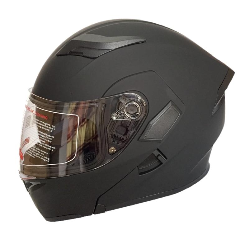 Мужчины двойной линзы флип вверх мотоцикл шлем DOT размер М L ХL ХХL