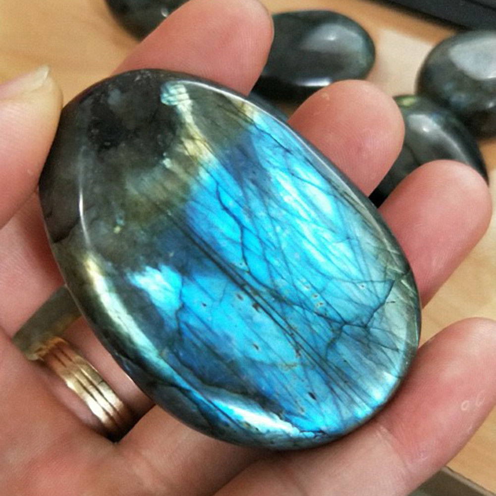 New Natural Moonstone Polished Quartz Labradorite Ore Specimen Stone therapy