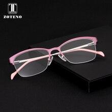 Сплав очки оправа Женская мода Половина рецепта для чтения компьютер прозрачный Близорукость Оптические оправы для очков#276