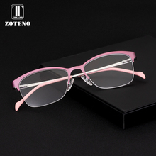 Alloy Glasses Frame Women Fashion Half Prescription Reading Computer Transparent Myopia Optical Eyewear Frames #276
