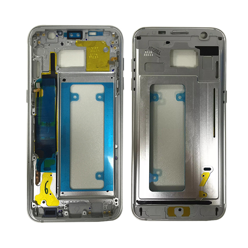 Brand New Middle Frame For Samsung S7 G930 G930F Mid Bezel Metal Frame Housing Chassis with Side Key Replacement Parts image