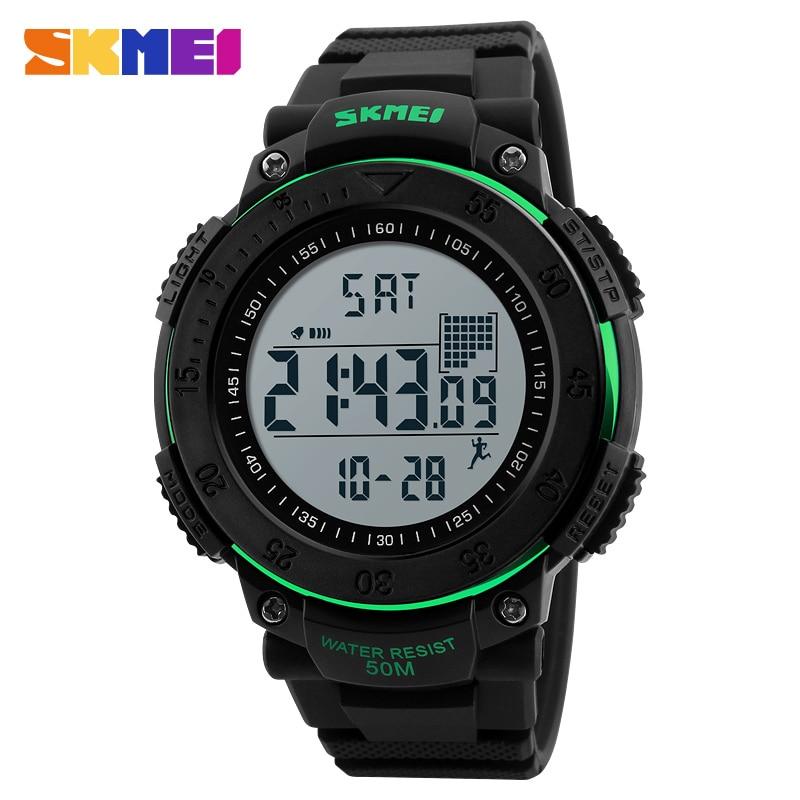 SKMEI Marca Reloj Digital Hombres Podómetro 3D Relojes Deportivos - Relojes para hombres - foto 2