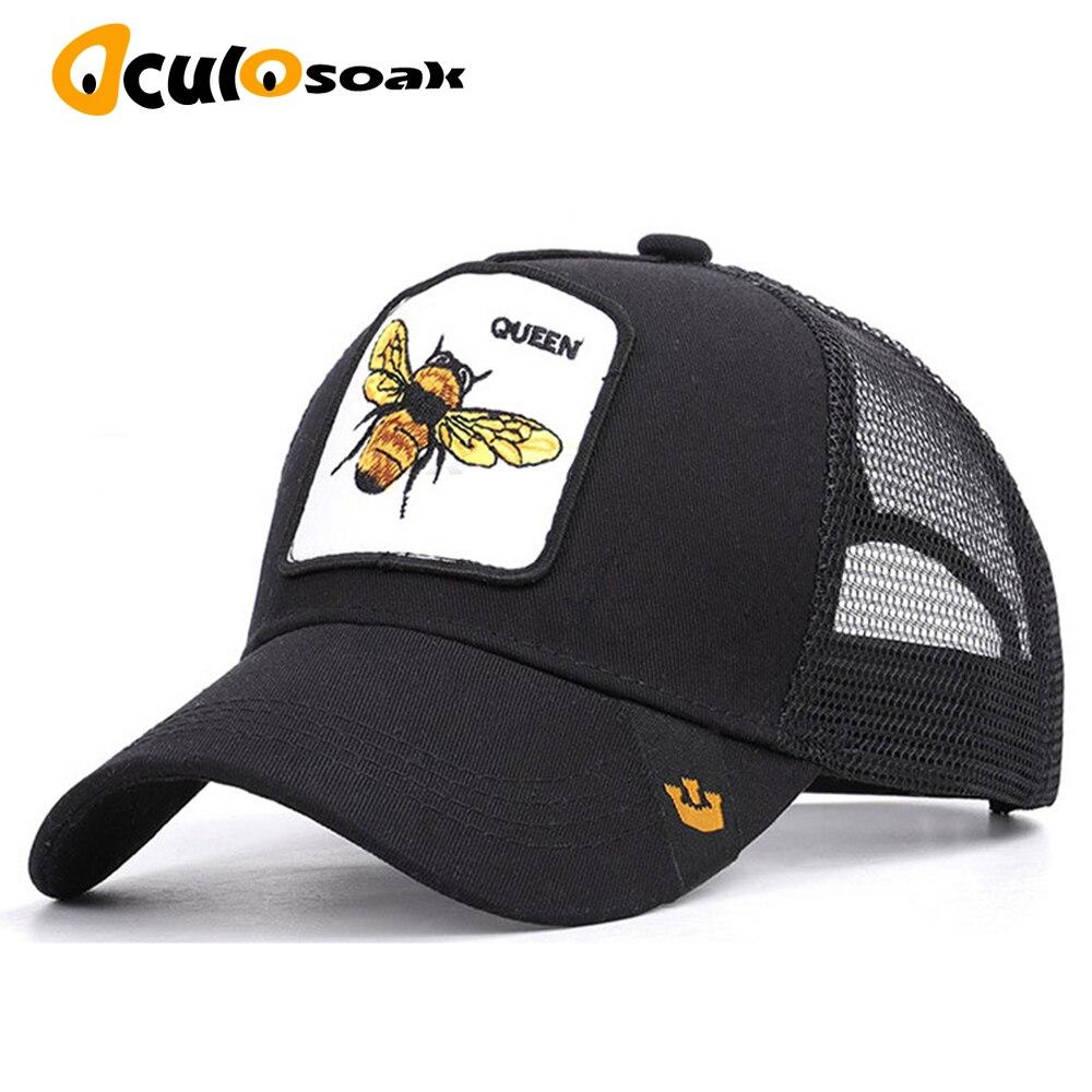 2019   baseball     cap   animal embroidery bee cartoon Donald Duck rabbit mesh summer men's ladies outdoor shade dad truck driver hat