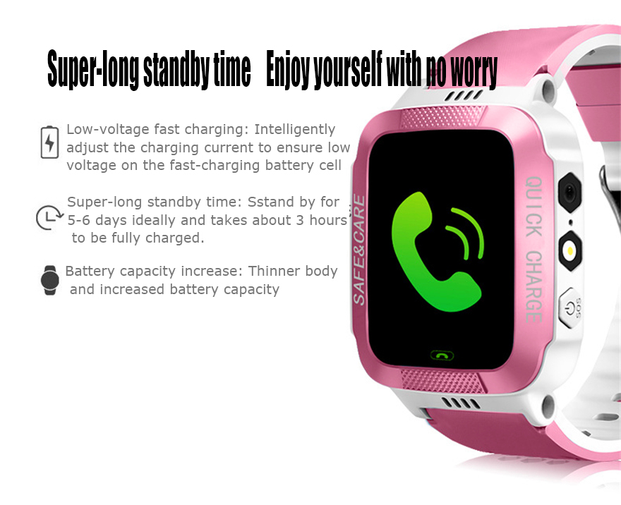 Smart Watch Kids Touch Screen GPS Positioning Children's Watches SOS Call Location Anti-Lost Reminder Baby Watch Children Clock 29