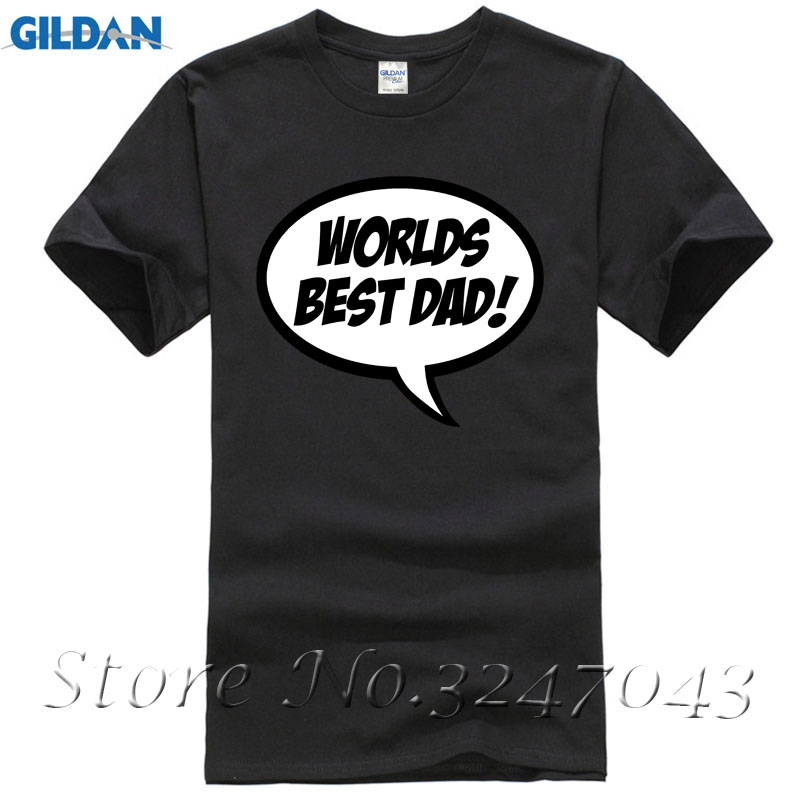 Simply Saying Worlds Best Dad Speech Bubble Fathers Day Gift Mens T-Shirt Short Sleeves Cotton T Shirt Free Shipping