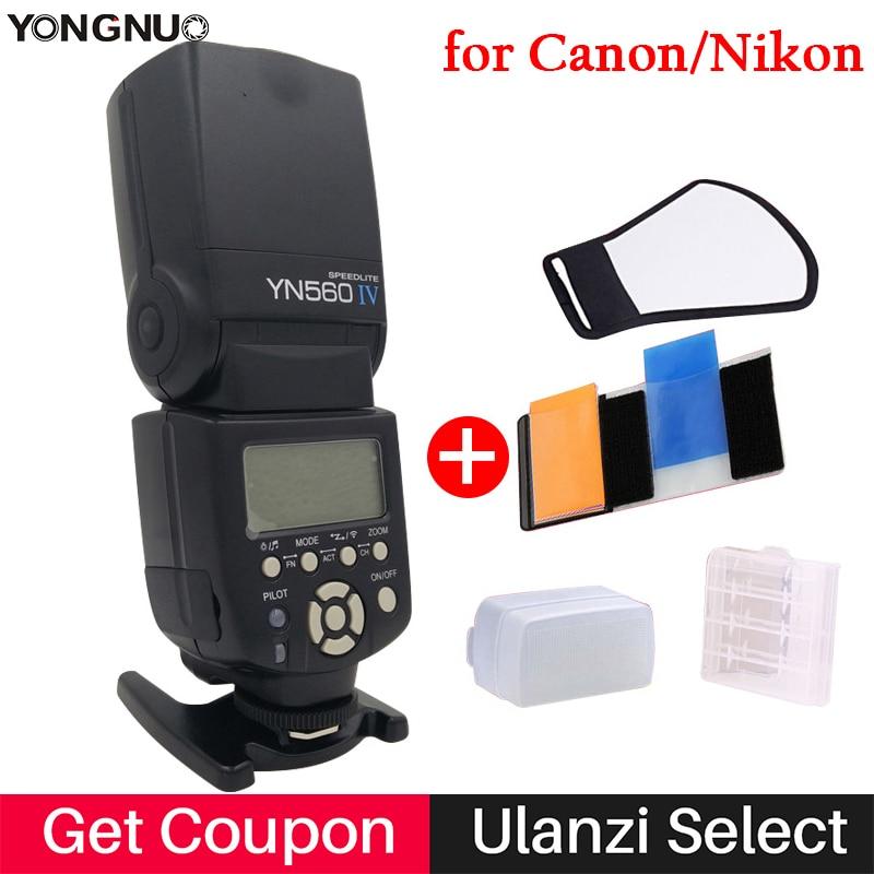 Yongnuo YN560IV YN560 IV YN 560 Flash Speedlite for Canon Nikon Olympus Pentax wireless Support 560TX RF605 RF603 RF602 trigger