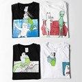 Firebird ripndip t camisa de alta qualidade dos desenhos animados cat paris marca caixa logotipo Homens Mulheres Thrasher Rasgar N Dip RIPNDIP Ripndip 3D Topo Tee