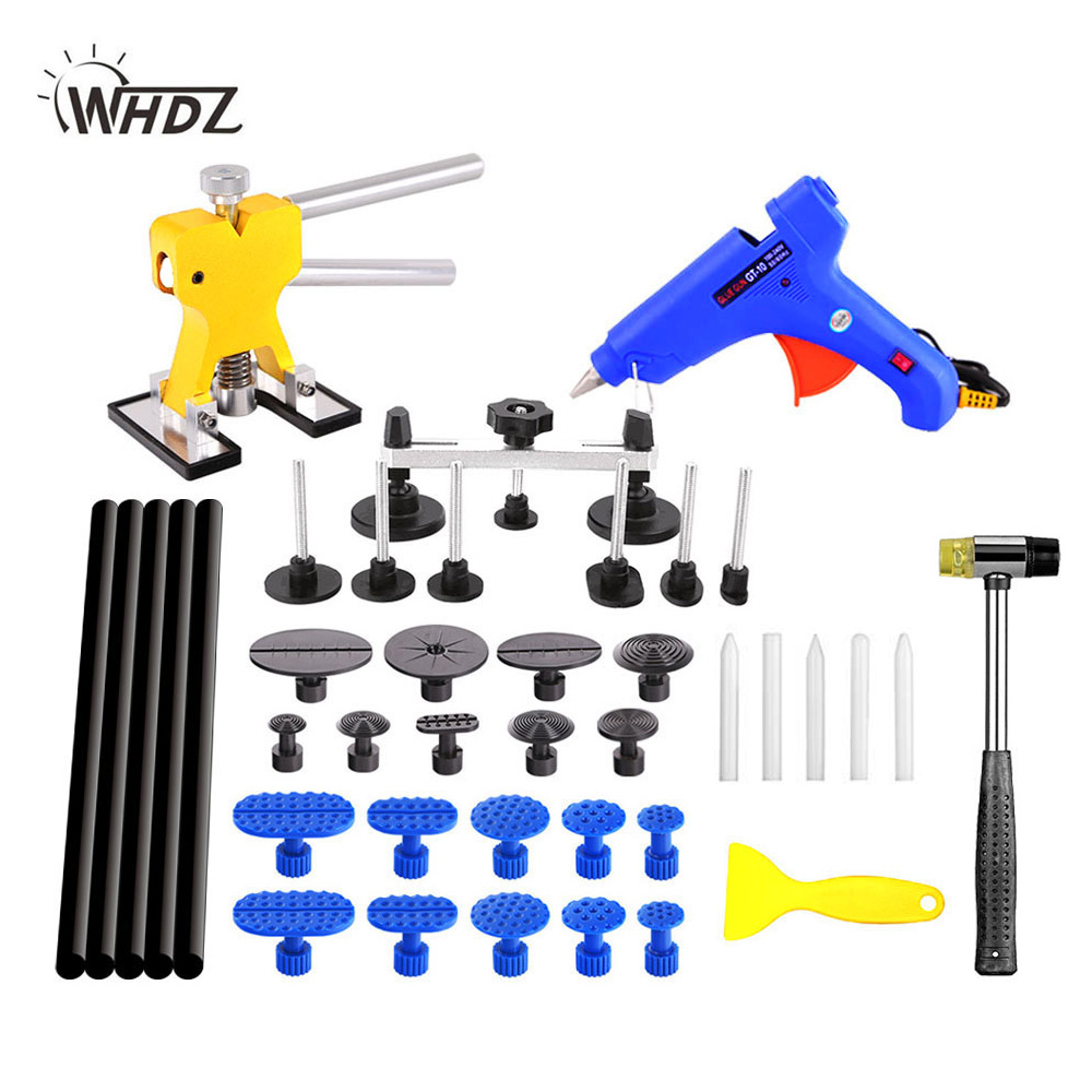 WHDZ PDR Tools DIY Paintless Dent Repair Tool Auto Dent Puller Car Body Dent Damage Repair Hand Tool Pulling bridge hammer цена