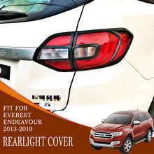 car tail light cover trim 4pc  black ABS plastic car accessories rear lamp cover for ford everest endeavour 2013-2019