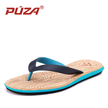 PUZA Brand New Summer Men Flip Flops Fashion High Quality Beach Sandals Shoes Non-slip Male Slippers Comfortable Casual