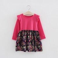 Fall Autumn Winter Baby Girls Clothes Little Girls Dress Casual Wear Joint Shivering Skirt Kids Dress