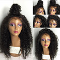 Kinky Culry Human Hair Wig For Black Women Malaysian Virgin Full Lace Wig Natural Hairline Baby Hair Glueless Lace Front Wigs