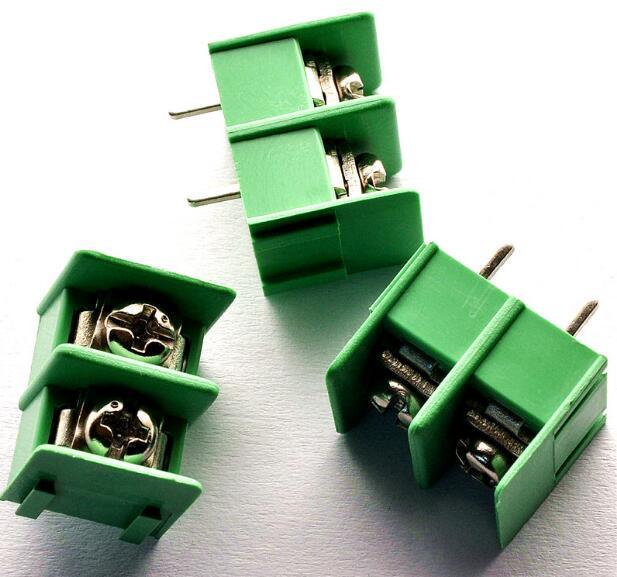 10PCS/Lot KF7.62 2Pin PCB Screw Terminal Block Connector KF7.62-2P pitch:7.62MM/0.3inch Green MG7.62 2Pins
