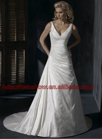 2012 Latest Style V Neck Bridal Gown