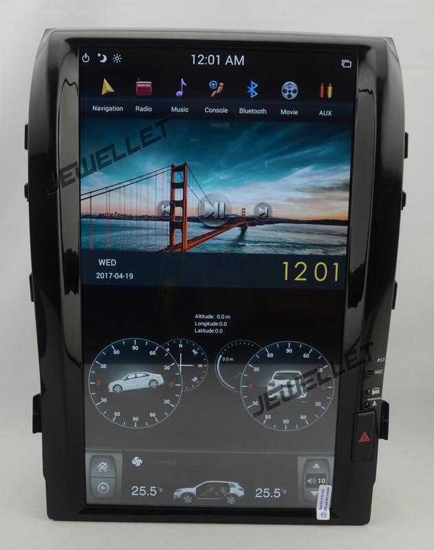 16 tesla style vertical écran android 6.0 Voiture GPS radio Navigation pour Toyota Land cruiser Roraima Lexus LX 570 2008-2015