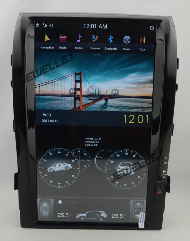 16 tesla style vertical screen android 6.0 Car GPS radio Navigation for Toyota Land cruiser Roraima Lexus LX 570 2008-2015
