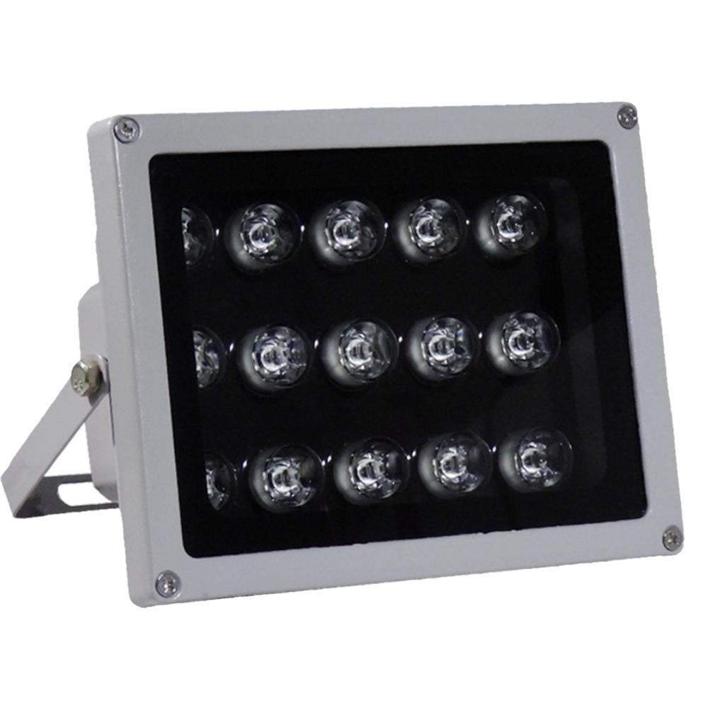 Illuminateur IR 850nm 15 W grand Angle IP67 LED étanche lumière infrarouge infrarouge avec adaptateur secteur pour caméra IP