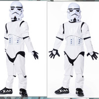 Child Boy Deluxe Star Wars The Force Awakens Storm Troopers Cosplay Fancy Kids Halloween Carnival Party