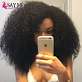 "Say Me Brazilian Afro Kinky Curly Virgin Hair 3 Bundles/Lot Natural Color Short Unprocessed Human Hair Weave Extensions 8""-22"""