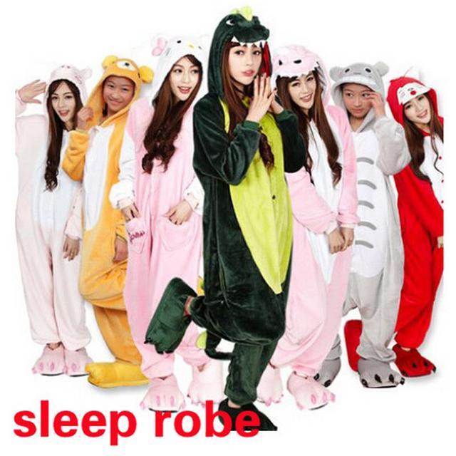 Moda Unisex Adultos Dormir Tops Partido de Cosplay Animal pijamas Tops Del Sueño de Dibujos Animados Para Adultos Camisón robe Pikachu/Dinosaurio, ty0727
