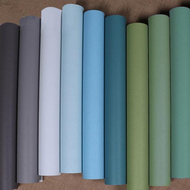 Tapetenmuster blau schlafzimmer  Aliexpress.com : Moderne Plain Einfarbig Verdicken Seide Tapete ...