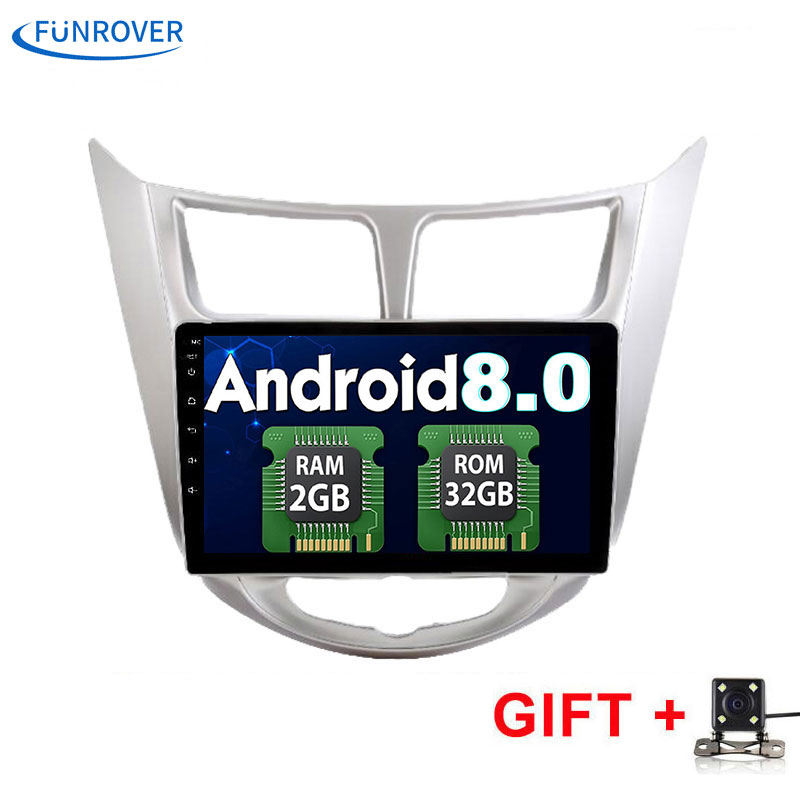 Funrover 2G 32G Android 8 0 2 DIN font b Car b font DVD GPS for