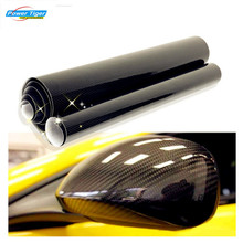 DIY 10x152cm Car Sticker 5D High Glossy Carbon Fiber Film Change Color Auto Exterior Interior Vinyl Wrap Decals Styling