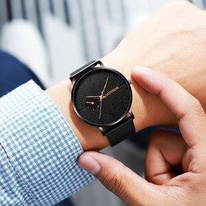 Image 5 - DONROSIN Männer Beiläufige Dünne Schwarz Mesh Stahl Handgelenk Sport Uhr Mode Herren Uhren Top Brand Luxus Quarzuhr Relogio Masculino