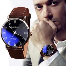 High Quality Men Watch Luxury Faux Leather Mens Quartz Analog
