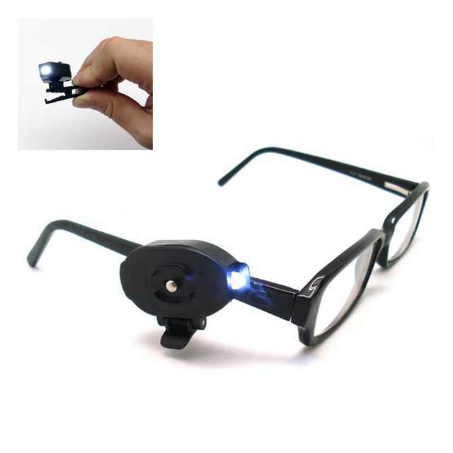 055ba81ca7b 2PCS Flexible Reading Book Light Mini Led Night Light For Eyeglass And Tools  Battery Clip On Universal Hat Cap Lamp