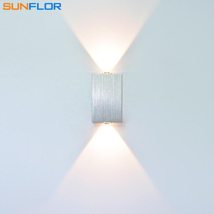 2W Wandlamp Opbouw Binnen LED Wandkandelaar Op en neer Verlichting - Binnenverlichting