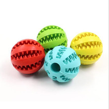5/7 cm ElasticityTeeth Ball Dog Chew Toys Pet Cat Puppy Tooth Cleaning Balls For Dogs Toy Interactive Rubber