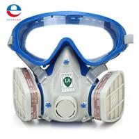 Gas Comprehensive Cover Paint Chemical Mask Goggles Pesticide Dustproof Fire Escape Respirator Carbon Filter Mask