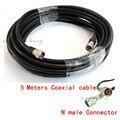 5 Metros N macho conectores Coaxiais 50ohm 50-5 Ultra Low Loss cabo para Telefone Celular Repetidor de Sinal de Reforço 3G 4G GSM DCS CDMA