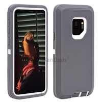 Carcasa protectora híbrida resistente a golpes PC y TPU Combo para Samsung S10 Note10 Galaxy S9/S9 Plus s7 borde S7
