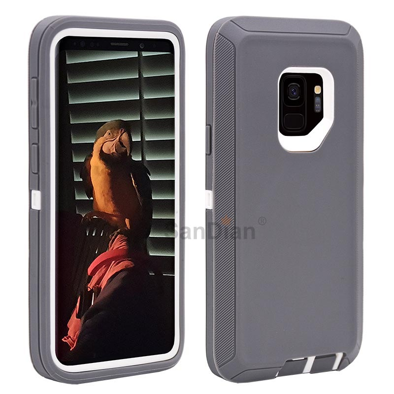 Hybrid Armor Shockproof Rugged PC and TPU Combo Protective Cover Case For Samsung Galaxy S9 / S9 Plus